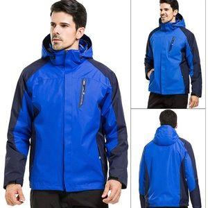 Men's Waterproof Double Layer Fleece Ski Jacket